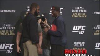 UFC 197: Jones vs. Saint Preux Fighter face off