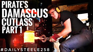 PIRATE'S SWORD IN DAMASCUS STEEL: Part 1: Making the steel!
