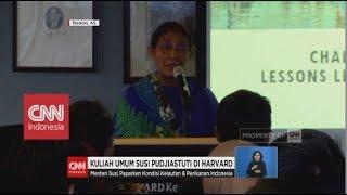 Menteri Susi Isi Kuliah Umum di Harvard University