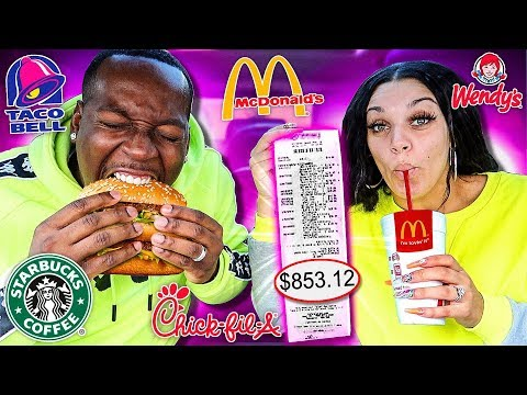 Letting The Person In Front of Us DECIDE What We Eat for 24 HOURS Impossible Food Challenge