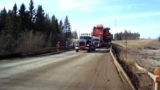Mammoet Fort McMurray moves a complete EX5500 part 1
