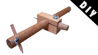 2 in 1 Marking Gauge & Compass Tool - Pergel ve İşaretleme aracı