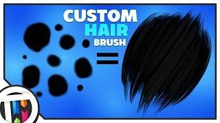 GIMP Tutorial - How to create a CUSTOM Hair Brush!