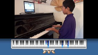 Practicing Mozart Piano Concerto with Home Concert Xtreme
