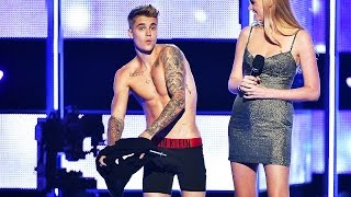 Justin Bieber Gets NAKED at Fashion Show! | What's Trending Now!