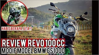 Modif Honda Revo 100cc model BMW GS & Harga2nya