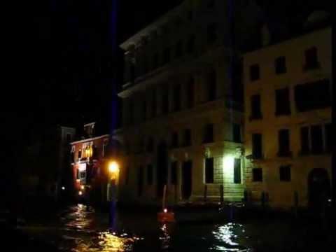 Venezia Canal Grande Nella Notte