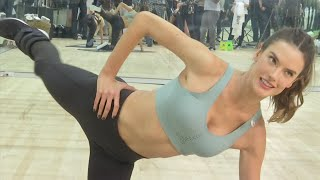 Working out with Alessandra Ambrosio