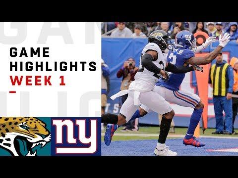 Xxx Mp4 Jaguars Vs Giants Week 1 Highlights NFL 2018 3gp Sex