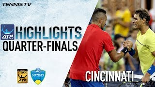 Highlights: Kyrgios, Ferrer Stun Top Seeds Cincinnati 2017