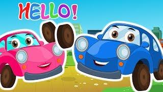 Ralph and rocky | hello Song | Nursery Rhyme | car cartoons
