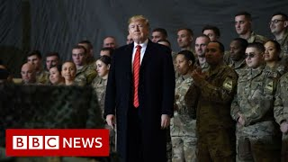President Trump makes surprise visit to US troops in Afghanistan - BBC News