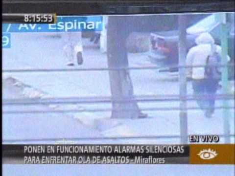 Utilizarán alarmas silenciosas contra asaltos en Miraflores