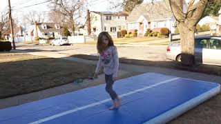 AIR TRACK TUMBLE TRACK - WILL ALLIE GET HER TUMBLING PASS FOR THE 1ST TIME? (ROBHBT)