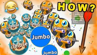 I DIDN'T EXPECT THIS !! - Solo Agar.io Gameplays