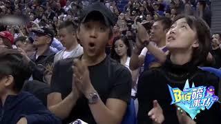 Vợ chồng Đặng Siêu - Tôn Lệ dẫn con trai đi xem NBA