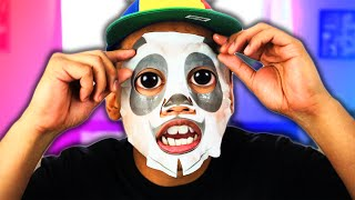 Trying Out Animal Face Masks!   Chad