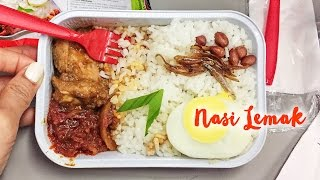 Nasi Lemak on AirAsia ► Malaysian Airplane Food from Bali to Singapore