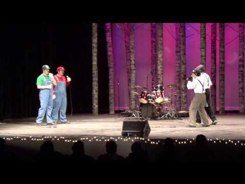 Epic Rap Battles of History Mario Bros. vs Wright Bros. at TA Coffeehouse