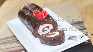 Eggless Swiss Roll Video Recipe by Bhavnas | Fix cake disasters