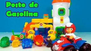 PJMASKS E PATRULHA CANINA NO POSTO DE GASOLINA -VENHA SE DIVERTIR !