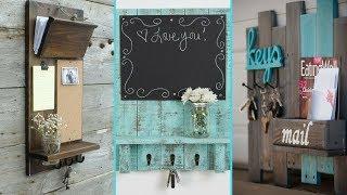 ❤ DIY Shabby Chic Style Entryway Mail & Key Organizer Ideas ❤   Home decor Ideas   Flamingo Mango