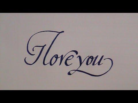 love in cursive writing