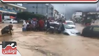 عاجل - اعصار شديد يضرب تونس ويدمر المنازل والسيارات