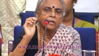 Sugathakumari talking about woman empowerment.