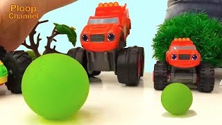 Blaze Bowling Team - STRIKE! - Toy Trucks for kids and Toy Cars videos for children. Cars for kids