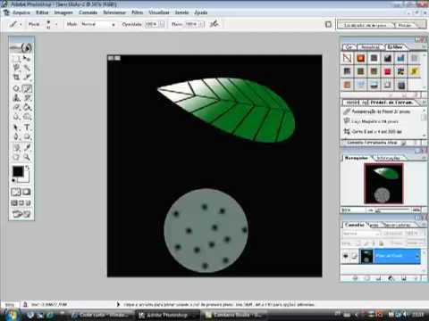 video aula photoshop desenho 3D basico iniciantes