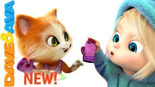 🎶 Three Little Kittens Songs for Toddlers | Nursery Rhymes from Dave and Ava 🎶