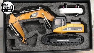 RC EXCAVATOR UNBOXING || TOYS REVIEW || HUINA 580 HYDRAULIC FULLY METAL MODIFIED