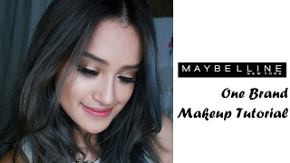 Maybelline One Brand Makeup Tutorial |Bronze and Gold Eyes | Indonesia | Nadya Aqilla