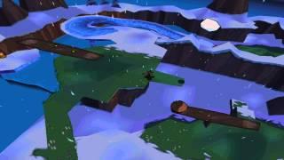 Detonado de Sheep Raider / Sheep, Dog, 'n Wolf parte 5 de 18 - Primeira fase de neve