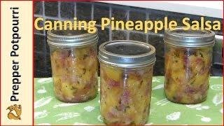 Canning Pineapple Habanero Salsa