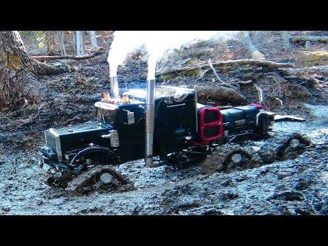 RC ADVENTURES Muddy Tracked Semi Truck 6X6X6 HD OVERKiLL & 4X4 BEAST MT on the Trail