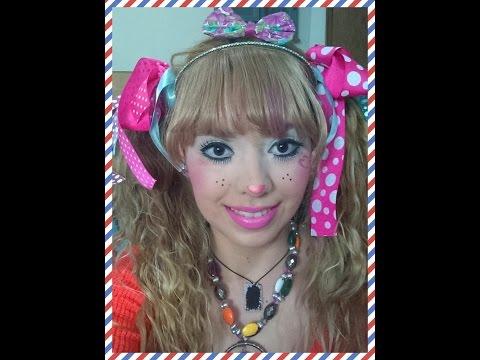 maquillaje de payasita fiesta infantil colaboracion