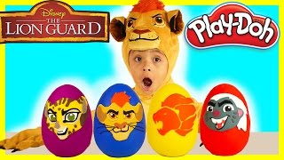 Disney Junior The Lion Guard Play-Doh Surprise Eggs Opening Fun Kion Super Giant Egg Kids Toys