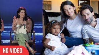 I cant Express that Feeling | Sunny Leone Reaction on Adopting A Girl From Latur | Nisha Kaur Weber