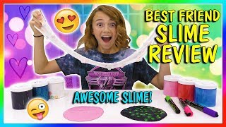 BEST FRIEND SLIME SWAP AND REVIEW | We Are The Davises