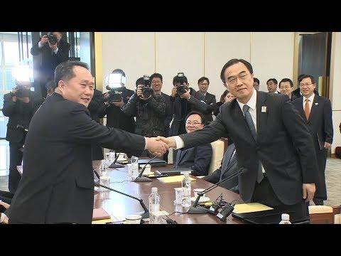 N. Korea, S. Korea begin talks as Winter Olympics help break ice