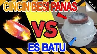 EKSPERIMEN ES BATU VS CINCIN BESI PANAS ( NGERI !! ) TERBARU 2019