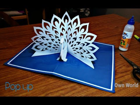 Xxx Mp4 DIY How To Make Peacock Pop Up Card Paper Crafts Handmade Craft Mother's Day Card 3gp Sex