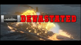 Devastate a Yamato with a Monty for 80K DMG  - World of Warships