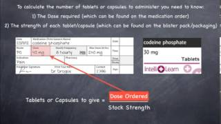 Calculations involving tablets and capsules (Part 1)