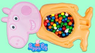 Peppa Pig & Baby George Eats Too Many Gumballs and Visits Doc McStuffins Toy Hospital!