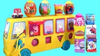 Play Doh Surprise Peppa School Bus KIDS Baby Toy - Ônibus de Atividades da Peppa Pig e George Pig