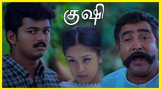 Kushi Tamil Movie - Vijay meets Vijayakumar