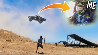 LAUNCHING $200,000 TRUCK OFF GIANT RAMP! (150ft+)